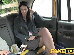 FakeTaxi Brunette exhibitionist loves cameras