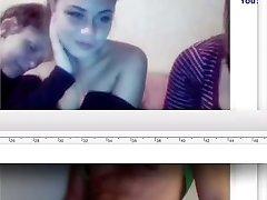 web cam three women watching