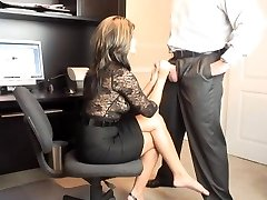 Super Hot MILF Office Deep Throat