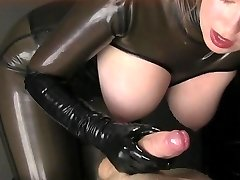 Latex Handjob JERK OFF INSTRUCTIONS