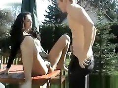 German Couple Garden Sex