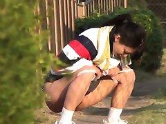 Azijske bejbe urinirati olajšave
