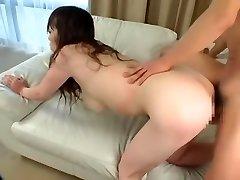 Exotic Japanese whore Momoka Sugihara in Fabulous Couple, Threesome JAV video