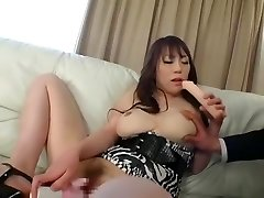 Exotic Japanese slut Momoka Sugihara in Fabulous Couple, Threesome JAV vid