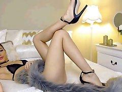 Hot Cam Tüdruk Hämmastav jalad ja Kõrged Kontsad Osa 1