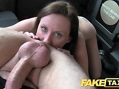FakeTaxi Wife set up for cab tearing up