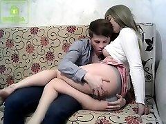 Blonde russian frigging her vagina
