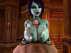 Soria gir en tittyfuck og blir gjennomvåt i cum 3D