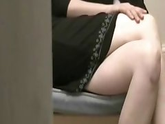 Panty masturbation while watching porn