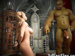 3D zlih stvorenja jebati djevojčice pixie!