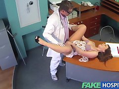 FakeHospital Doctor eases voluptuous patients back pain with his talented cock