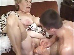 Gamle Modne Bestemor Knullet