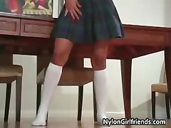 Cute ebony schoolgirl Emy in her school part3