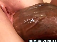 Chubby Teen Savannah Heat Stretched By A Fat Black Dick