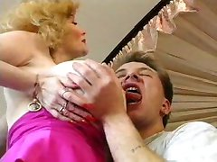 Hot German Busty Blonde Granny Cougar