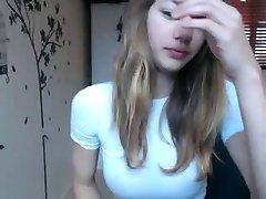 Super hot teen cutie striptease on cam