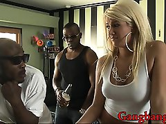 Blonde Layla Price loves getting screwed by three men