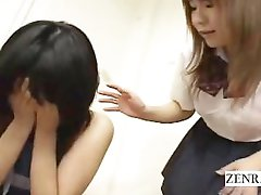 Subtiitritega Jaapani ENF nudist koolitüdruk klassis