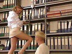 Secretary hot blonde