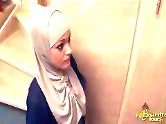 Arabski Devica Globoko V Rit Zajebal