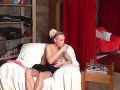 Licking and fingering for nasty czech blondie