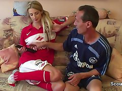 German old football teacher fucks young teen girl