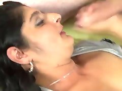 Indian Aunty Sucks Fucks gets Facials from 2 BWC