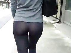 girlfriend thong nice ass :D