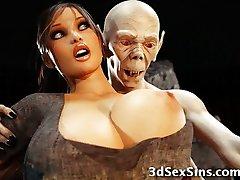 3D zombija jebi Lara Croft!