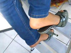 Hausfrau - बहुत und 13cm उच्च ऊँची एड़ी के जूते