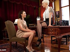 When hot university student Lilith Luxe visits Professor Lorelei Lee's office hours, she learns a lesson that will change her forever. Seduced by Lorelei's beauty and intellect, Lilith submits to spanking, finger banging, fisting, inversion, suspension, pussy licking, flogging, dick-on-a-stick, pussy and anal strap-on fucking, and a fist and strap-on DP!