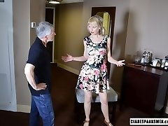 Clare Spanks Noisy Neighbor