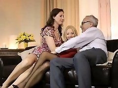 Stroking mature euro mega-bitch