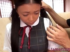 Petite japanese student toyed and fucked