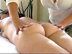 Lesbain Paws Cougar's Lactating Tits