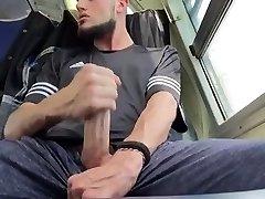 My Big Dick nephew milks in behind my car