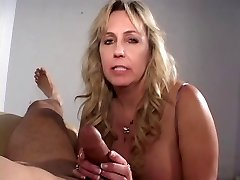 Mature cigarette smoking fuck-stick sucking grandma gets a blast on her tits