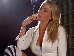 Danielle Maye chain smoking