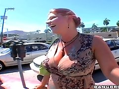 Strenuous chested whore Eden deepthroats fat cock in pov