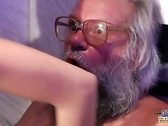 Teen Voluptuous Cock Massage and Pussy fuck with big dick grandfather super hot