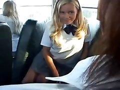 Bree - Milky college girl Bus Slut