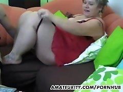 Chubby amateur Milf homemade xxx act