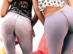 BIG-ASS & Cameltoe In Jeans. The Jeans Girlfriends!
