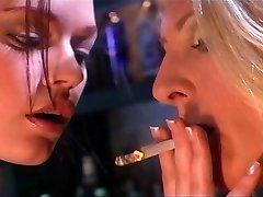 Smoking fetish gals having fun