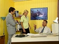 Nicoletta Blue-Secretary drilled in the Office