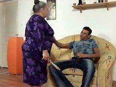 giant wondrous  woman granny takes youthful strapon