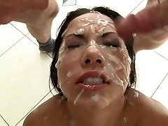 Morgan Lee Her 1st Blowbang Ten Men