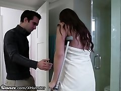 SweetSinner Stepson Helps Mummy out of Douche