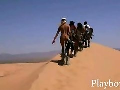 Huge rack babes attempts out sand boarding