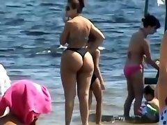 Spying Mom - Plumper Donk - Beach voyeur - Candid Big Ass - Chubby Granny